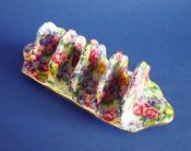Rare Grimwades Royal Winton 'Julia' Chintz Toast Rack c1939